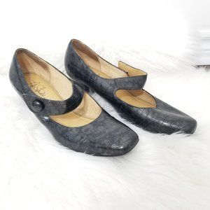 Life Stride | Gray Mary Jane Comfort Pumps Heels